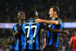 Ghana international, Kamal Sowah and his Club Brugge teammates