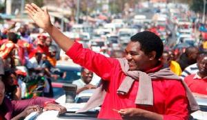 Hakainde Hichilema, Zambia's main opposition candidate