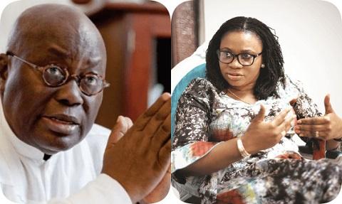 President Akufo-Addo and Mrs Charlotte Osei