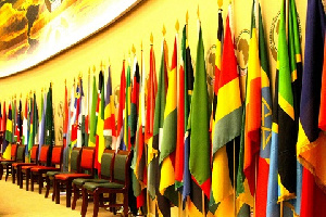 Flags of various African countries