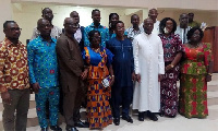 Professor Kwesi Yankah (middle) in a group photograph with the  governing councils