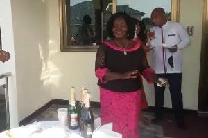 Prof Naana Jane showing her dancing skills