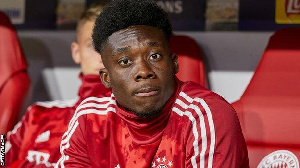 Alphonso Davies has scored twice for Bayern since joining in January