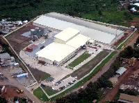 Aerial view of the ADM Cocoa Processing Plant in Kumasi
