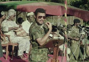 Former president of Ghana, the late Jerry John Rawlings