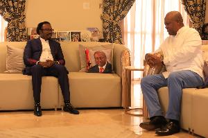 John Mahama meets with Nigerian prophet Joshua Iginla