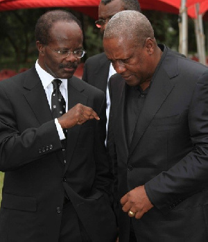 File Photo: Dr. Paa Kwesi Nduom with Mahama in a chat