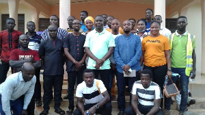 Dr Boako poses with NPP Supporters Association in Ahafo
