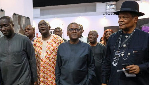 Aliko Dangote, visits the Art X, an annual art fair held in Lagos, REUTERS/Temilade Adelaja