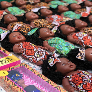 Some of the black dolls gifted to the young girls today