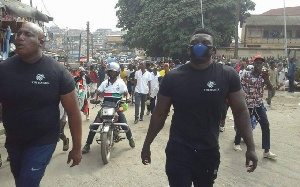 'The Hawks' were spotted at the NDC Unity Walk held in Kumasi
