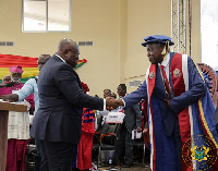 President Akufo-Addo congratulating the new VC of UEW