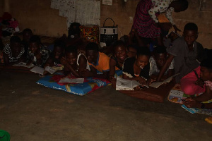 The BECE candidates in their classroom