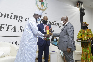 President Nana Addo Dankwa Akufo-Addo at the opening of AfCTA secretariat