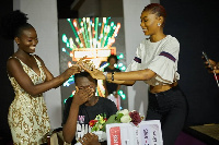 Mary Animpong being crowned as the winner of the competition