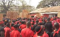 Organised Labour demo in the Ashanti Region