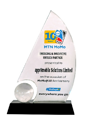 The plaque given appsNmobile Solutions Limited