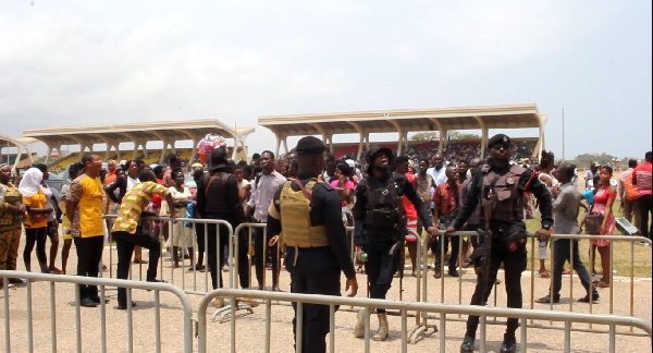 Some SHS graduates with their parents at the Black Stars Square