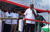 Vice President Kwesi Amissah-Arthur addresses supporters.