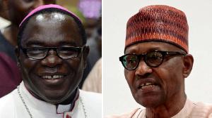 Bishop Matthew Kukah cari Nigeria govment complain give US Rights Commission