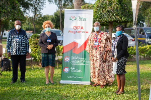 Prof C. C. Mate-Kole, Prof Angela Ofori-Atta, Prof Nathaniel K. Pecku, and Dr Dinah Baah-Odoom