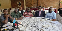 Some executives of the NDC at the meeting