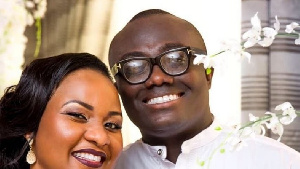 Bola Ray with wife