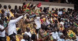 File Photo of Ghanaians at the Baba Yara Sports Stadium