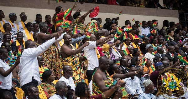 File Photo of Ghanaians at the Baba Yara Sports Stadium