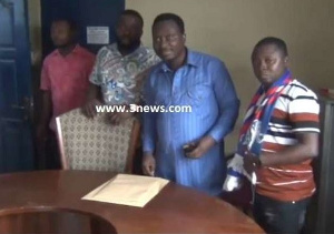 Eric Selby Ogbame at the NPP constituency office