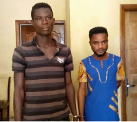 The suspects, Joseph Arthur and Enoch Agyapong