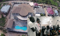The fans [inset] were 'invited' for a special date with Gyan at his La Basilica De Baby Jet mansion
