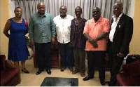 John Mahama and other NDC gurus visited Koku Anyidoho at the BNI yesterday