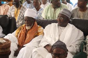 Chief Imam seated with Alhaji Bawumia