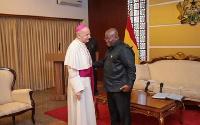 Very Rev. Mons. Jean Marie Speich and President Nana Addo Dankwa Akufo-Addo