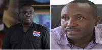 Sammy Awuku, National Youth Organiser of  NPP (Left) and John Boadu (Right)