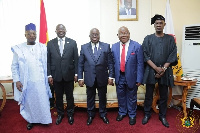 President Nana Addo Dankwa Akufo-Addo with the leadership of Parliament