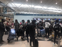 The Black Queens left Accra for Gabon on Monday morning