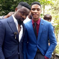 Sarkodie and Rahim Banda after the ceremony at Kufuor's residence