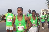 Milo Marathon winner, David Zigah
