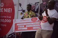 Sheriff Jackson the seventh weekly winner with his GHC 10,000 prize