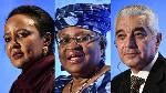 Kenya's Amina Mohamed (L) and Nigeria's Ngozi Okonjo-Iweala (C) are still in the race (Getty Images)