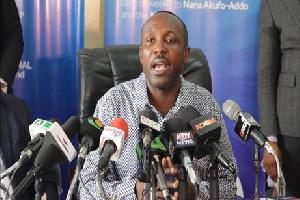 John Boadu addressing the media