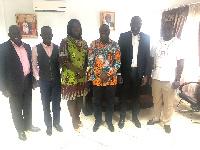 Guinness Ghana officials visited Mohammed Awal, Minister of Business Development.