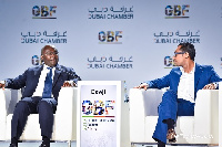Vice President, Dr Mahamudu Bawumia with Mohammed Dewji, President of METL group