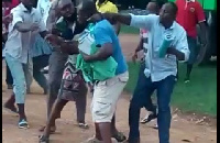 Some NDC members in the Bohyen Electoral area exchanging punches