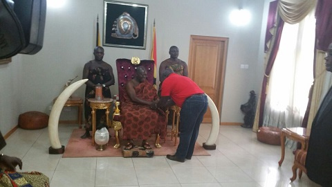 Julius Debrah welcomed by Asantehene