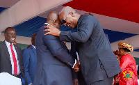 Mahama and Akufo-Addo in a handshake