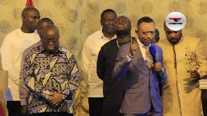 President Nana Addo Dankwa Akufo-Addo with Rev. Isaac Owusu Bempah
