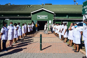 The official opening and handover of a COVID-19 quarantine centre in Pietermaritzburg, South Africa